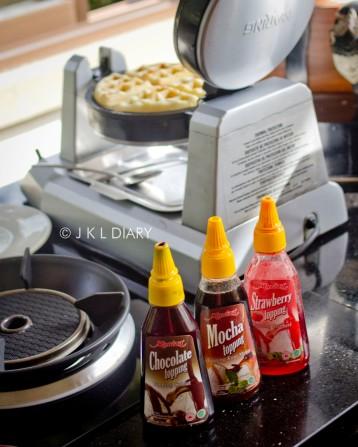 Waffle & pilihan toppingnya