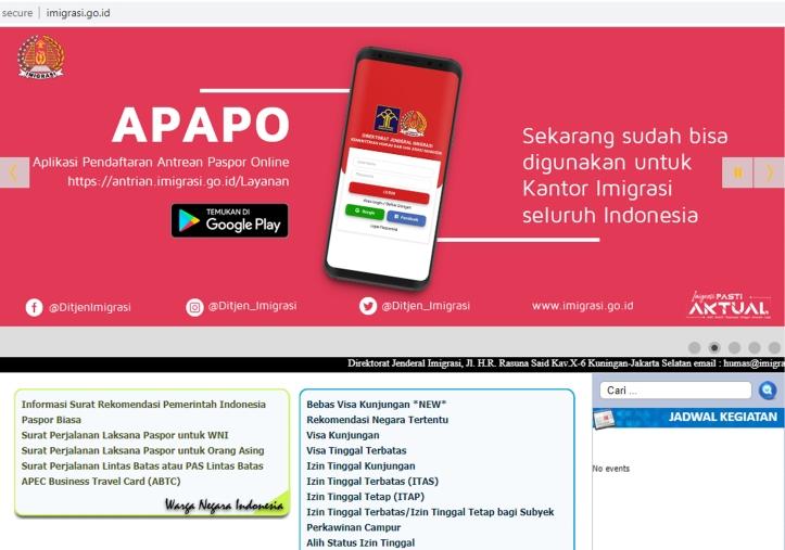 Aplikasi di web