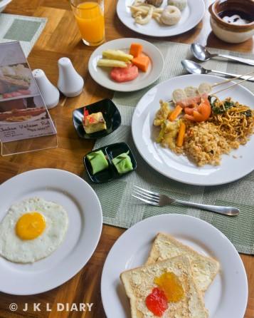 Menu sarapan kami