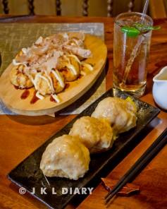 takoyaki & onigiri