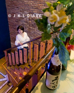 Tangga fotogenik di Kunoichi Restaurant